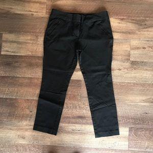 Loft black modern fit cropped pants size 10